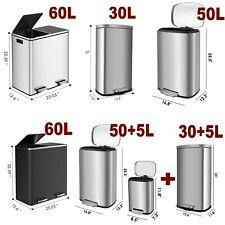 Classification Recycle Dustbin, MetalPedal Step Trash Can for Home Restaurant