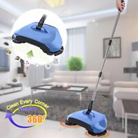 3in1 Broom Dustbin Trash Can Floor Cleaning Machine Rotated Hand Push Sweeper hH