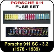 car fuses fuse boxes for porsche s0 full fuse set for porsche 911 1978 1989 3 0 3 2 carrera turbo fusebox fits porsche