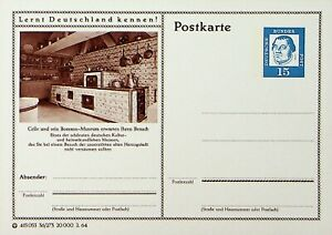 GERMANY CELLE AND ITS MUSEUM ILLUSTRATED FINE UNUSED POSTCARD