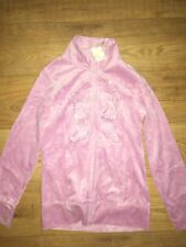 BNWT NEXT VELOUR PINK TRACKSUIT TOP SIZE 14 YRS
