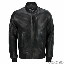 Men's Biker Hunt in Black Stylish Motorcycle Real Leather Jacket