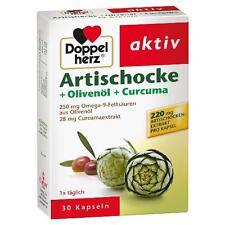 DOPPELHERZ Artischocke+Olivenöl+Curcuma Kapseln 30 St PZN 4700645