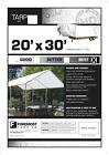 20x30 Multi-Purpose White Heavy Duty DRY TOP Poly Tarp 20'x30'