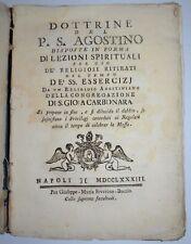 DOTTRINE S. AGOSTINO -  ediz 1783 - raro - napoli