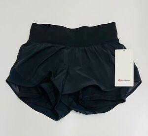 "Lululemon Women's Hotty Hot LR Shorts 4""  (Black)     RRP £48"