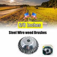 Steel Wire Wheel Garden Weed Brush Lawn Mower Grass Trimmer Cutter Tools Parts