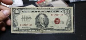 "Fr.1551 $100 1966 A Legal Tender ""Red Seal"" Scarcer Issue !!"