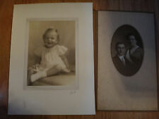 2 Vintage Arkansas & Texas Photographs Photo portraits 1 of early 1900's couple