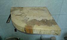 Baumscheibe, Eckwaschtisch, Waschtischplatte,ca.40x40x5 cm,geschliffen, geölt,
