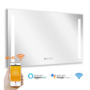 LM600-Pro Infrarot Spiegelheizung LED-Licht App Steuerung Badheizung Heizspiegel