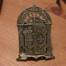 rare ancien petit cadre photo de poche angelot christ jésus église jolie déco