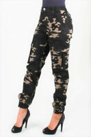 New Solid Women's Military Camo Hiking Cotton Utility Cargo Pants Camoflage