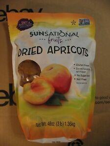 3 LB Sunsational fruits Turkish Dried Apricots. No Added Sugar.  F