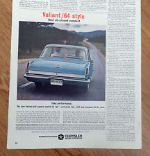 1964 Plymouth Valiant Ad  Style   Take Performance