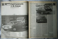 1982 Ford Granada 2.3L Estate Original Autocar magazine Road test