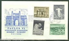 VATICAN CITY POPE PAUL VI VISIT TO BOMBAY INDIA  SC#400/03 RODIA FIRST DAY COVER