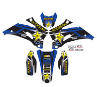 2003-2004 YAMAHA WR 250 450 WR250F WR450F GRAPHICS ROCKSTAR : BLUE / BLACK DECAL
