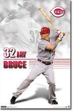 MLB BASEBALL CINCINNATI REDS JAY BRUCE POSTER NEW 22x34 FAST FREE SHIPPING