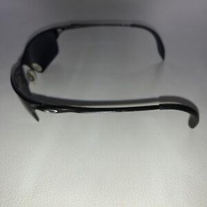 Men's Oakley Half Wire Black Gray Metal Sleek Sport Wrap Sunglasses