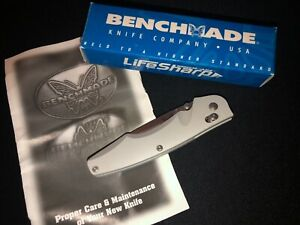 PRE-PRODUCTION Benchmade 771 Osborne Knife -Silver -275/1000 -Collection USA/mb