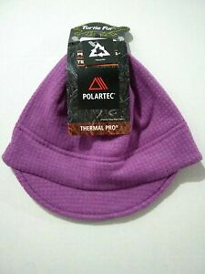 Turtle Fur Beanie Hat Polatec Thermal Pro Grid Visor Ultra Violet