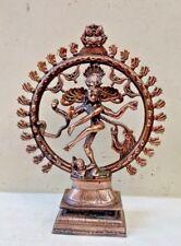 Natraj Metal Sculpture Dancing God Siva Statue Hindu Shiva Temple Figurine Murti