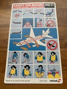 Safety Card MD11 Swissair