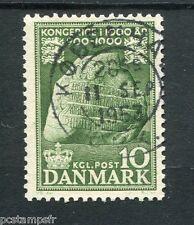 DANEMARK, 1953-54, timbre 347, MILLENAIRE ROYAUME, oblitéré, MILLENNIUM, used