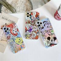 For iphone 11 Pro Max XS XR 7 8+ Cute Disney cartoon Glitter soft tpu phone case
