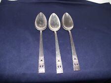 3 Vintage Oneida Community Coronation Silverplate Flatware Serving Spoons
