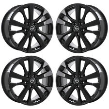 "18"" NISSAN ALTIMA MAXIMA BLACK WHEELS RIMS FACTORY OEM 2016 2017 2018 SET 62720"