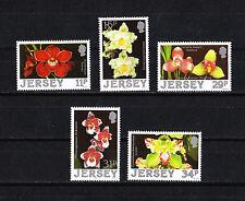 JERSEY   timbre   fleurs  orchidées      1988  num:   419/23  **