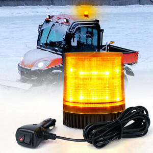 Yellow LED Strobe Beacon Light Rooftop Rotating Emergency Warning Trucks Tractor