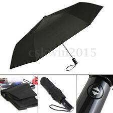 Black Men's Business Use Automatic Open Close Windproof Compact Anti-UV Umbrella