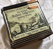 1879 Balkan Sobranie Finest Yenidje Tobacco Vintage cigarette Advertising tin