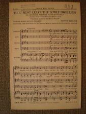 Thou Must Leave Thy Lowly Dwelling (Satb Choir) - Hector Berlioz