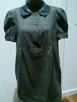 See by chloe green tweed dress, size 4