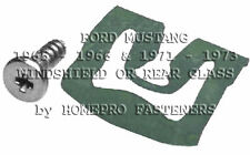 1965 1966 1971 - 1973 FORD MUSTANG WINDSHIELD OR REAR GLASS REVEAL MLDG CLIPS 20