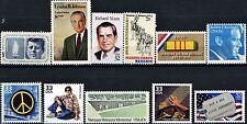 11 Vietnam War Theme Stamps JFK LBJ Bobby Nixon Peace POWs The Wall Hippies