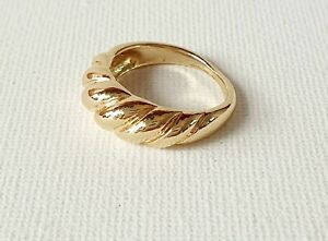 Gold Rope Twist Croissant Ring Size 6 & 7 Other Bloggers Stories