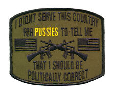 "4 1/4"" X 3 1/2"" Embroidered Patch Wax Backed Politically Correct - US Veteran"