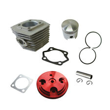 For 80cc Motorized Bike Cylinder&Piston&CNC Red Cylinder Head Cover