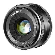 Neewer 35mm F / 1,7 Enfoque Manual Fijo Prime APS-C para Canon EF-M EOS M Series