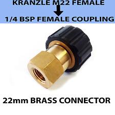 Kranzle tipo M22 Donna filettatura 22mm a 1/4 Connettore di accoppiamento a vite Donna