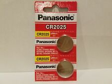 2 x Fresh PANASONIC CR 2025 CR2025 ECR2025 LITHIUM COIN CELL Battery Exp 2027