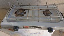 Cocina de camping gas 2 quemadores compacta. Marca coleman Stove 200 plus