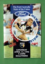 #Bb. Rugby Program 1996 - Qld vs Nsw 12's