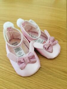 Baby Girl Pink Shoes, Cute Rabbit Design