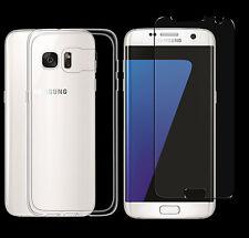 Samsung Galaxy S7 TPU Silikon Schutz Hülle Cover Bumper Case + PANZER GLAS Folie